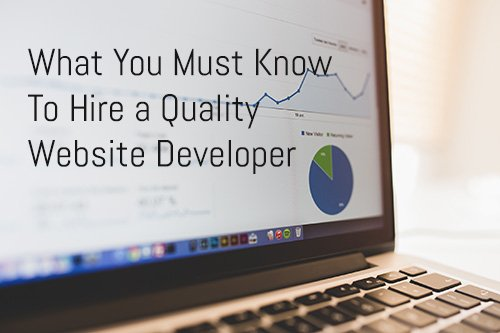 What You Must Know To Hire a Quality Website Developer