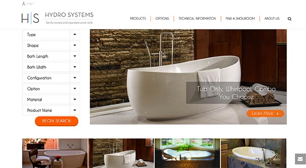 Customizations to Theme - Hydro Systems