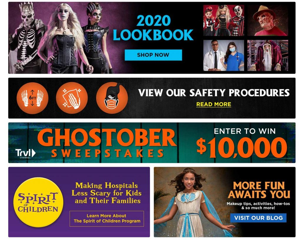 Large images on the Spirit Halloween Site