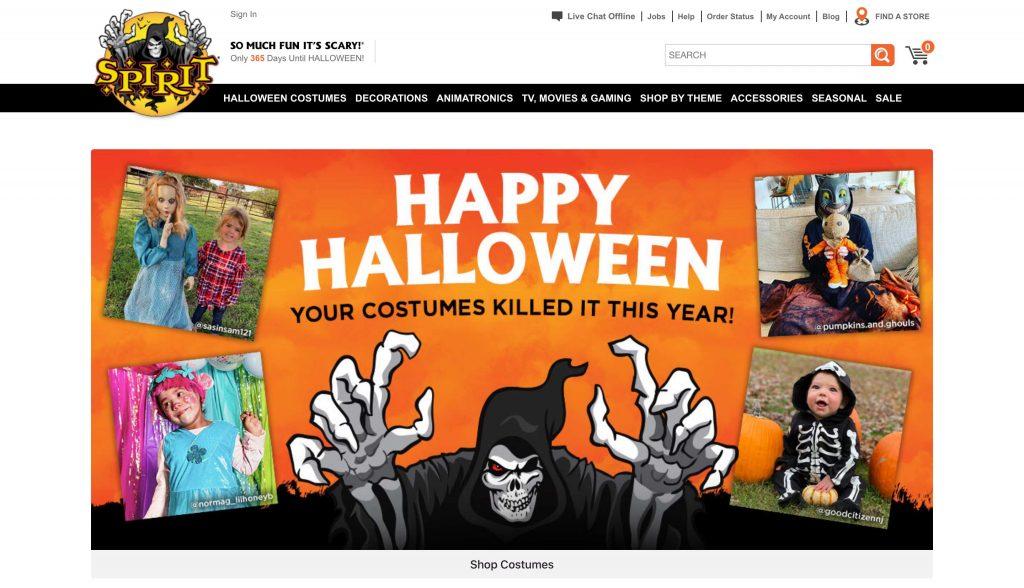 Spirit Halloween Header Design